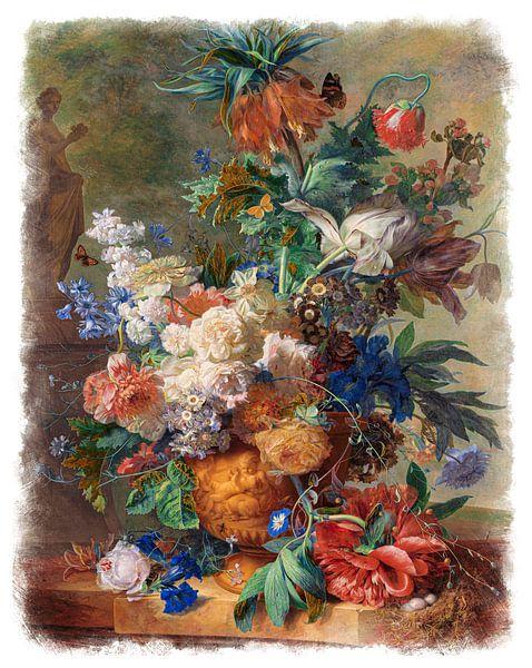 Oude Meesters serie #5 - Stilleven met bloemen, Jan van Huysum van Anita Meis