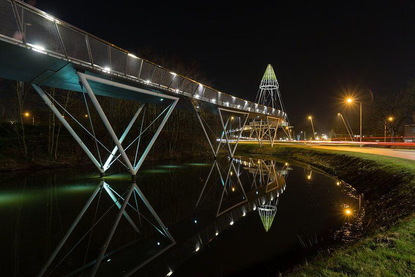 Fietsbrug de Slinger in Drachten van Arline Photography