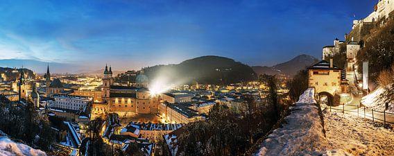 Salzburg Panorama blauw uur