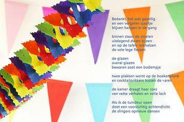 Slingers met poëzie von Bargo Kunst