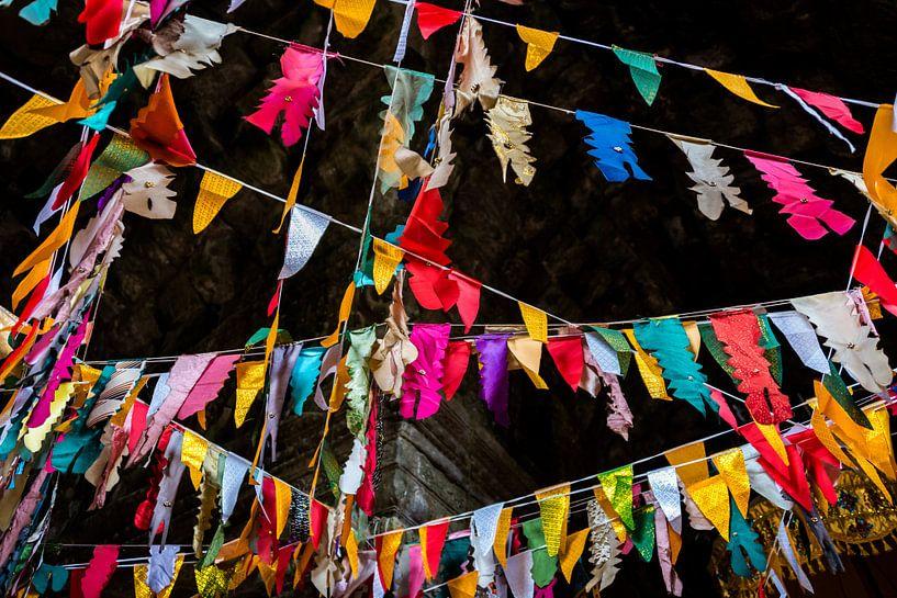 Feest in de tempel, Cambodja van Rietje Bulthuis