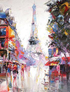 De Eiffeltoren in Parijs van Branko Kostic
