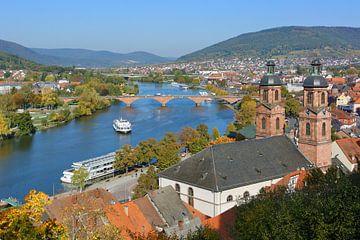 Miltenberg on Main River van Gisela Scheffbuch