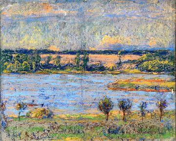 Teich am Abend, Christian Rohlfs, 1896-97