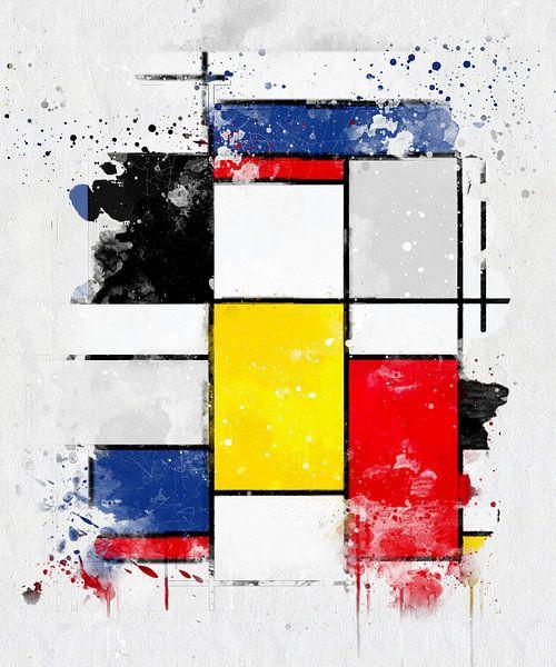 Piet Mondriaan waterverf van zippora wiese