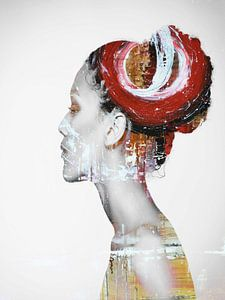 23. Silhouette, Porträt, Frau, Maaya. von Alies werk