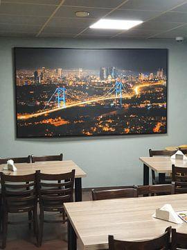 Klantfoto: Skyline van Istanboel van Roy Poots