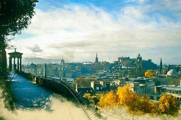 Edinburg Skyline van Arjen Roos