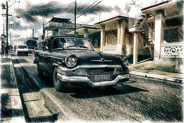 Schwarze Limousine in Trinidad van Andre Sinzger