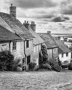 Gold Hill in schwarz-weiß, Shaftesbury, Dorset