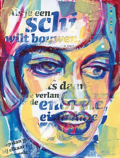 Kunst vrouw van  Eva van den Hamsvoort
