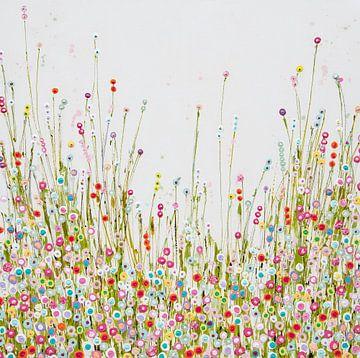 Gemälde Blumenfeld Pastell von Bianca ter Riet