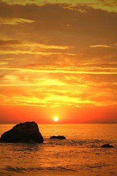 Sonnenuntergang am Meer von Ines Porada