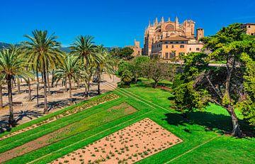 Spanje Mallorca eiland, Kathedraal La Seu in Palma de Mallorca van Alex Winter