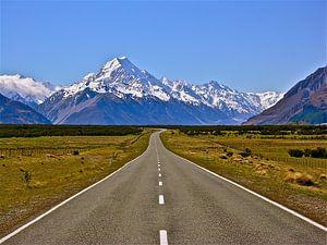 Mount Cook. On the Road van Iduna vanwoerkom