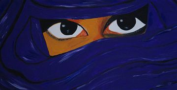 verschleierte Frau in lila van Babetts Bildergalerie
