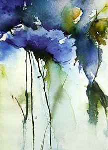 Blau floral von annemiek groenhout