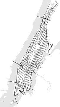 Manhattan - New York von Drawn by Johan