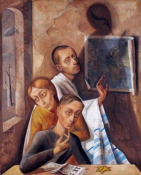 Selbstbildnis im Versteck, Felix Nussbaum, 1944 von Atelier Liesjes