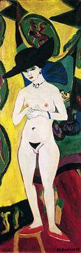 Ernst Ludwig Kirchner.Akt mit Hut