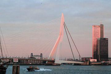 Zonsondergang in Rotterdam von Joran Huisman