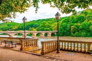 Terras aan de rivier de Dordogne-Frankrijk van Fotografie Arthur van Leeuwen