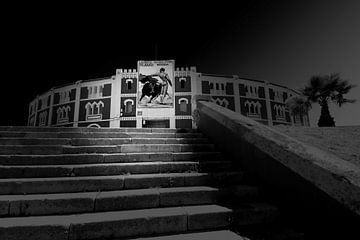 Plaza de Toros, Spanje (zwart-wit)