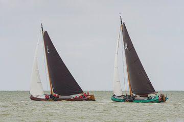 Skûtsjes op het IJsselmeer_02 van Harry Eggens