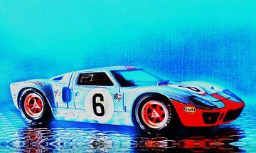 Ford GT 40 - Victory Le Mans 1969 - Artwork Jean-Louis Glineur von Jean-Louis Glineur alias DeVerviers