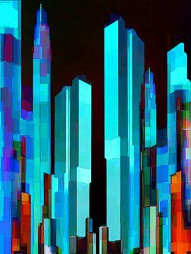 24. city-art, abstract, stad E. van Alies werk