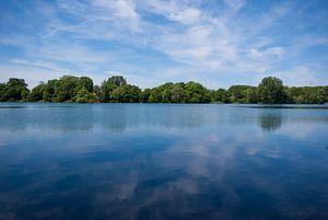 Lake and a blue sky