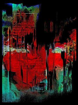 The woman in red  van Gabi Hampe