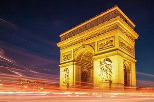 Arc de Triomphe de l'Étoile in Paris bei Nacht von Christian Müringer