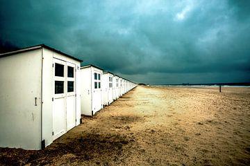 Strandhuisjes Texel van Simone Karis