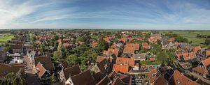 panorama foto van De Rijp uit de lucht van
