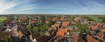 panorama foto van De Rijp uit de lucht
