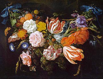 Gärtnerei von Blumen und Früchten, Jan Davidsz. de Heem