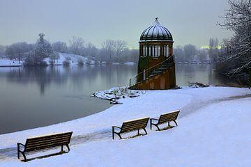 Seepark Freiburg im Winter