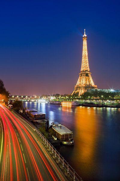 Eiffeltoren met blik over de Seine van Henk Meijer Photography