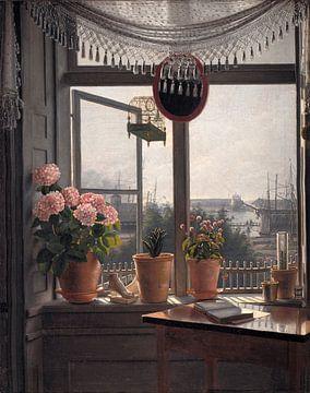 Vue de la fenêtre de l'artiste, Martinus Rørbye sur