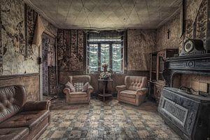 Leefruimte van een kleine boerderij van Monodio Photography