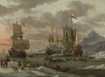Walvisvangst in de Poolzee, Abraham Storck