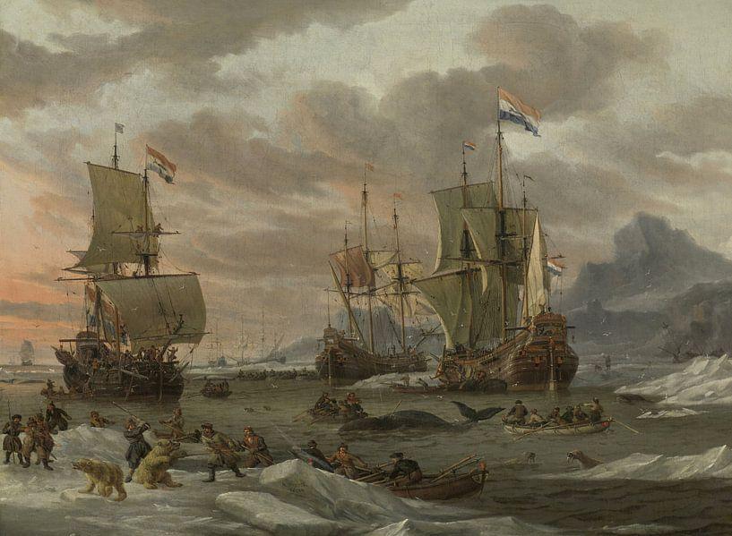 Walvisvangst in de Poolzee, Abraham Storck van Meesterlijcke Meesters