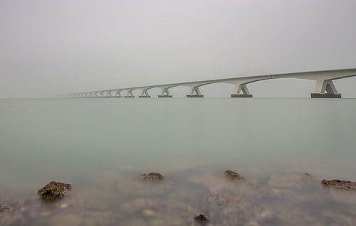 Fading into the fog - Zeelandbrug