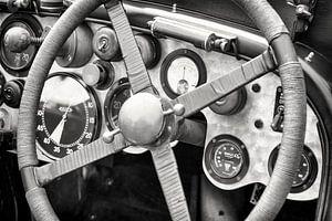 Vintage Bentley race auto dashboard