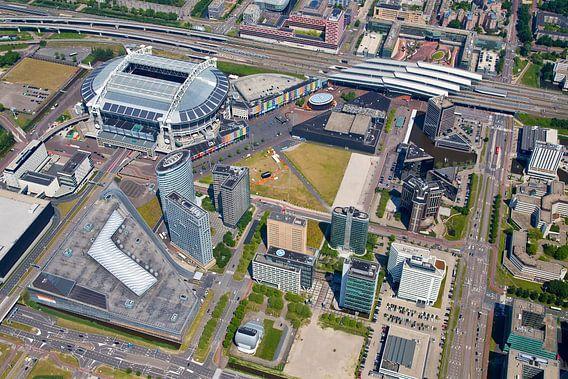 Luchtfoto Arena gebied te Amsterdam