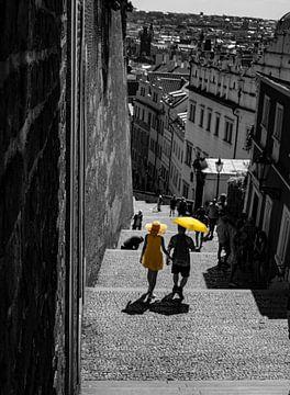 Schwarz, Weiß undamp; Gelb von Danny Verhalle