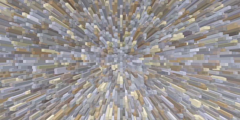 Blokken, grijs-bruin van Marion Tenbergen