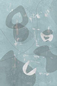 Mid-Century Vintage Nr. 3 | silber-türkis von Melanie Viola