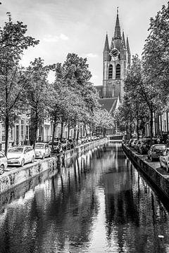 Stadsgezicht Delft van Hans Lunenburg